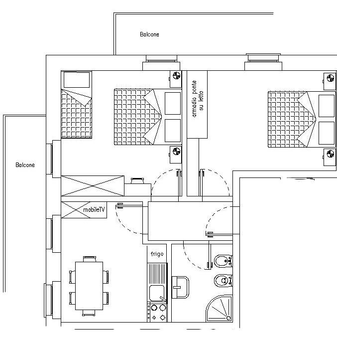 Hotel Denny and Residence Pinzolo Madonna di Campiglio - Trilocali tipo D/E